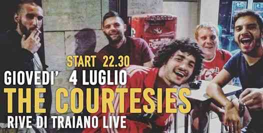 4 Luglio 2019 // The Courtesies // riveDi traiano Live eventi Terracina eventi LT