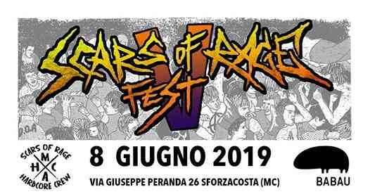 Scars Of Rage Hardcore Fest #5 eventi Macerata eventi MC