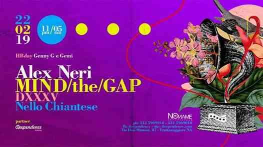 No name club feat MIND/the/GAP pres. Alex Neri eventi Frattamaggiore eventi NA