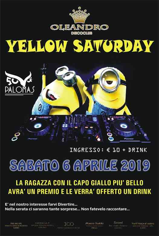 Yellow Saturday Oleandro eventi Baunei eventi OG