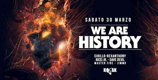 We Are History with Cirillo Rexanthony Ricci jr eventi Lecce eventi LE
