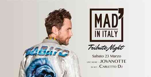 Tribute Night - Jovanotte / Carletto Dj eventi Verona eventi VR