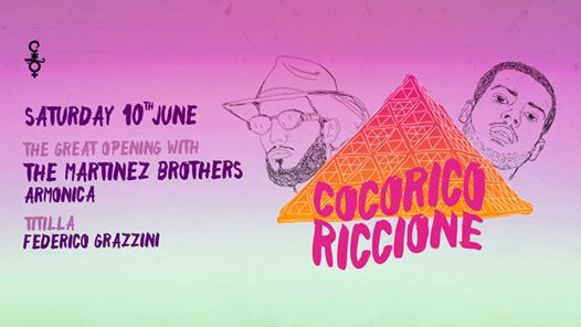 10.06: Cocoricò Opening Party with The Martinez Brothers eventi Riccione eventi RN
