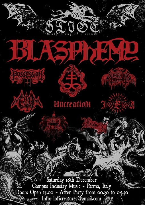 Stige Fest - Blasphemy (CAN) and many more eventi Parma eventi PR
