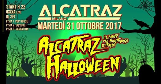 Halloween Party 2017 | Alcatraz Milano 31.10.17 eventi Milano eventi MI