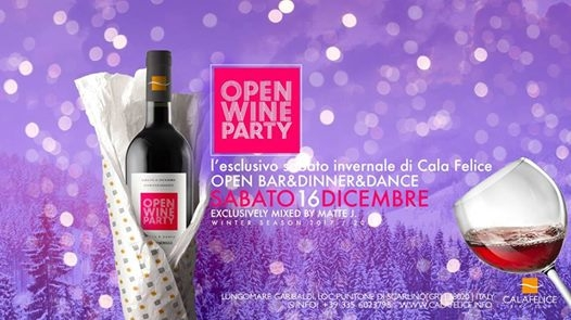 OPEN WINE PARTY Cala Felice eventi Scarlino eventi GR