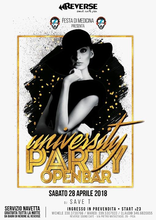 University Party al Reverse eventi Pisa eventi PI