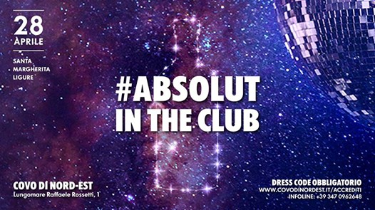 Absolut NIght eventi Santa Margherita Ligure eventi GE