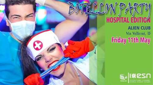 Botellon Party★Hospital edition ★ESN Roma ASE★ @Alien Club eventi Roma eventi RM