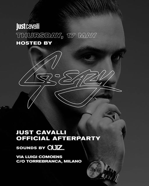 After Concert Party G-Eazy at Just Cavalli eventi Milano eventi MI
