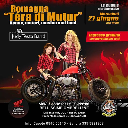 Donne Motori Musica and food con Judy Testa Band eventi Castel Bolognese eventi RA