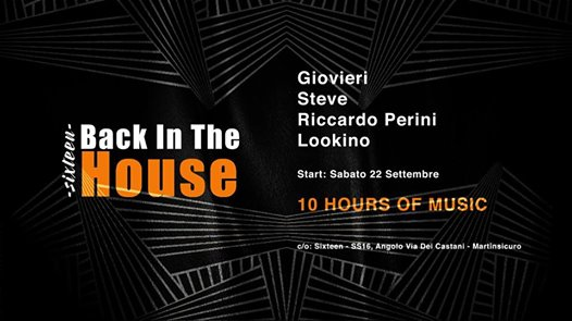 Back in the house-10 ORE eventi Martinsicuro eventi TE