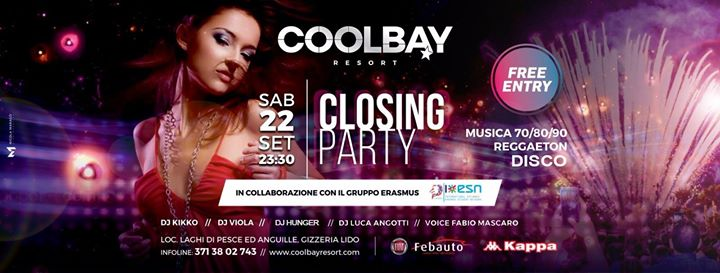 Coolbay★Disco • Closing Party eventi Gizzeria eventi CZ