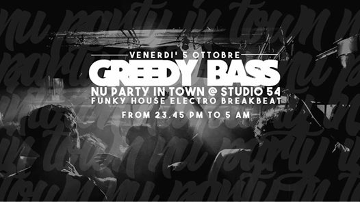 Opening Greedy Bass eventi Bologna eventi BO
