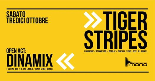Mono Phase Sixteen: Opening Party w/ Tiger Stripes plus Dinamix eventi Caserta eventi CE