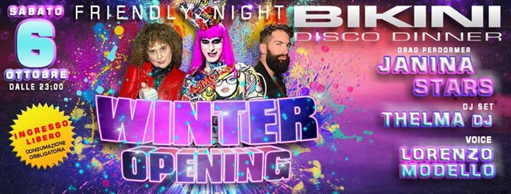 Winter Opening Friendly Night eventi Cattolica eventi RN