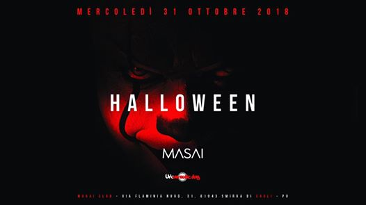 Halloween Masai Club - 31 October 2018 eventi Cagli eventi PU