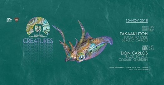 Sound Department 10/11 with Takaaki Itoh and Don Carlos eventi Taranto eventi TA