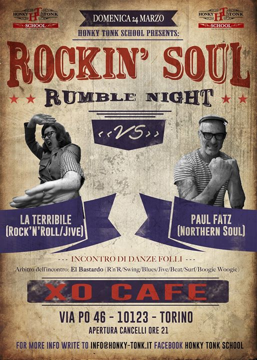 Rockin' Soul Rumble Night Dj La Terribile Vs Paul Fatz eventi Torino eventi TO
