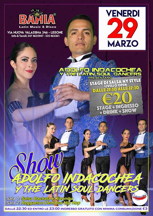 Adolfo Indacochea y The Latin Soul Dancers in Stage & Show eventi Lissone eventi MB