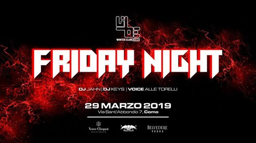 Friday Night at Libe Winter Club eventi Como eventi CO
