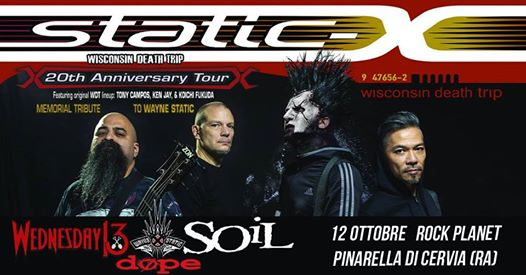 Static-X | Wisconsin Death Trip 20° anniversary at Rock Planet eventi Cervia eventi RA