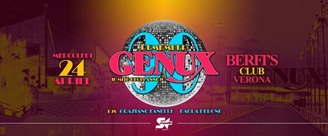 24.04 Remember GENUX at Berfis CLUB eventi Verona eventi VR