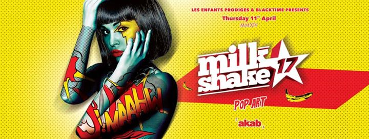 Akab MilkShake Pop Art Night eventi Roma eventi RM