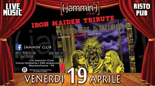 Iron Maiden - Maiden Division Night@Jammin' Club eventi Montesilvano eventi PE