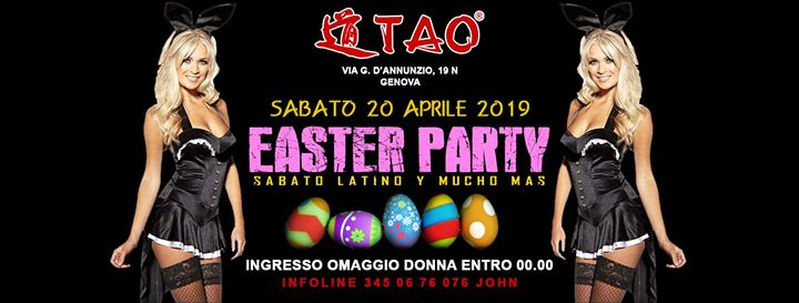 ☆☆ Easter Party @TAO Disco Club ☆☆ sab.20/04/2019 eventi Genova eventi GE