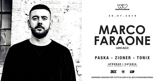 With Love presents: Marco Faraone eventi Catania eventi CT