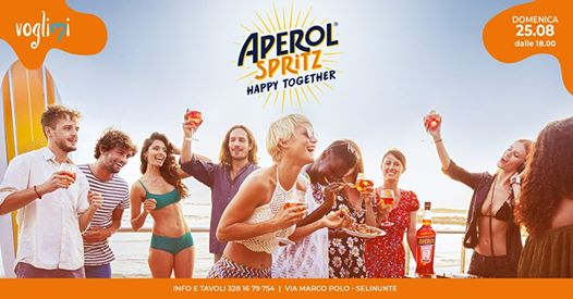 Aperol Spritz Happy Together • Domenica 25.08 eventi Castelvetrano eventi TP