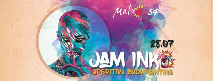 Dom 28/07 Jam Ink'ing in the beach @Malua54 eventi Comacchio eventi FE